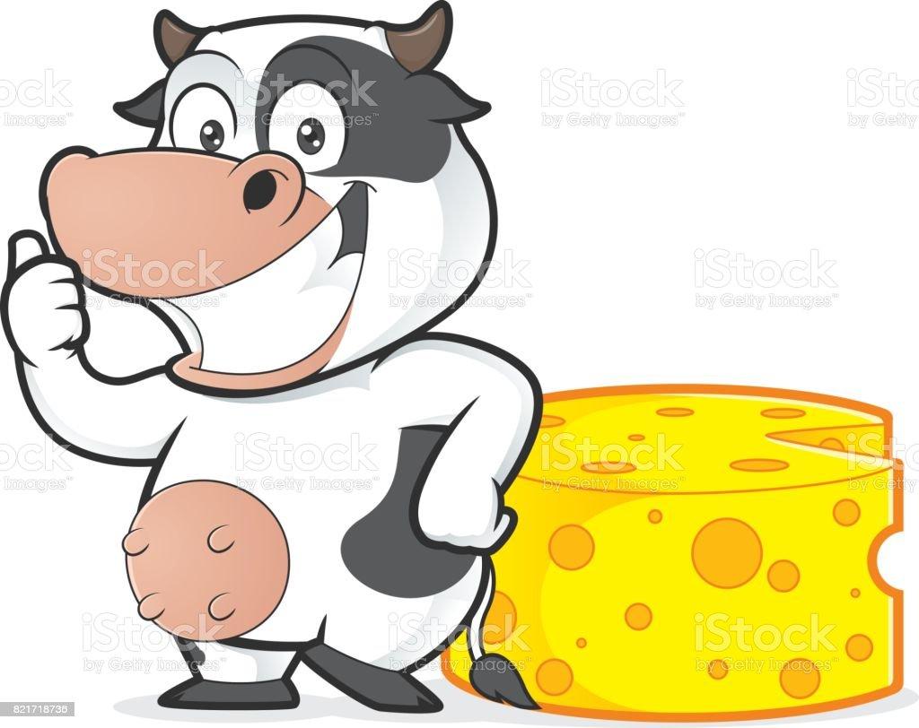 Kuh Mit Käse Stock Vektor Art und mehr Bilder von Brie 821718736 ...