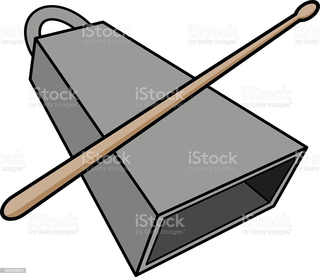royalty free cow bell instrument clip art vector images rh istockphoto com cowbell clipart more cowbell clipart