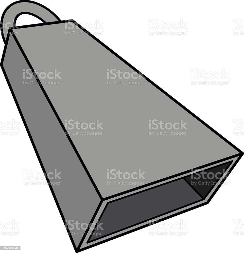 royalty free cow bell instrument clip art vector images rh istockphoto com MSU Cowbell MSU Cowbell