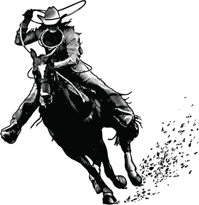 Cowboy and Lasso Engraving