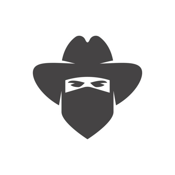 Cowboy. Bandit icon Cowboy. Bandit icon bandit stock illustrations