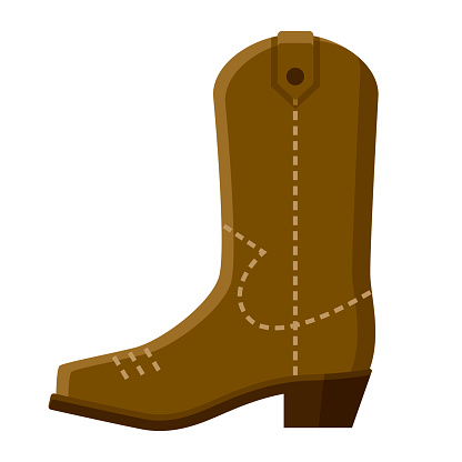 Cowboy Boot Icon on Transparent Background