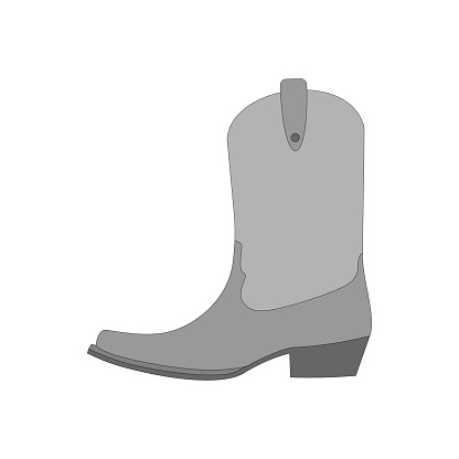 cowboy boot isolated on white background, vector illustration.