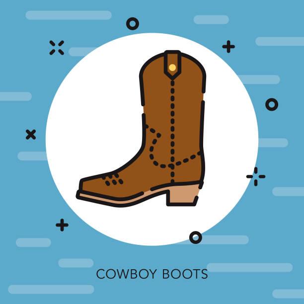 cowboy-stiefel offene übersicht usa-symbol - cowboystiefel stock-grafiken, -clipart, -cartoons und -symbole