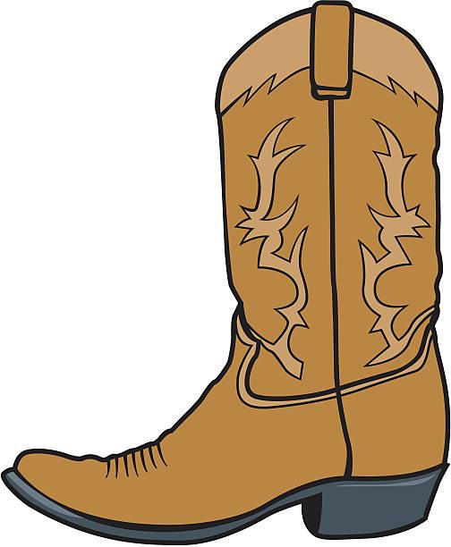 cowboystiefel boot - cowboystiefel stock-grafiken, -clipart, -cartoons und -symbole