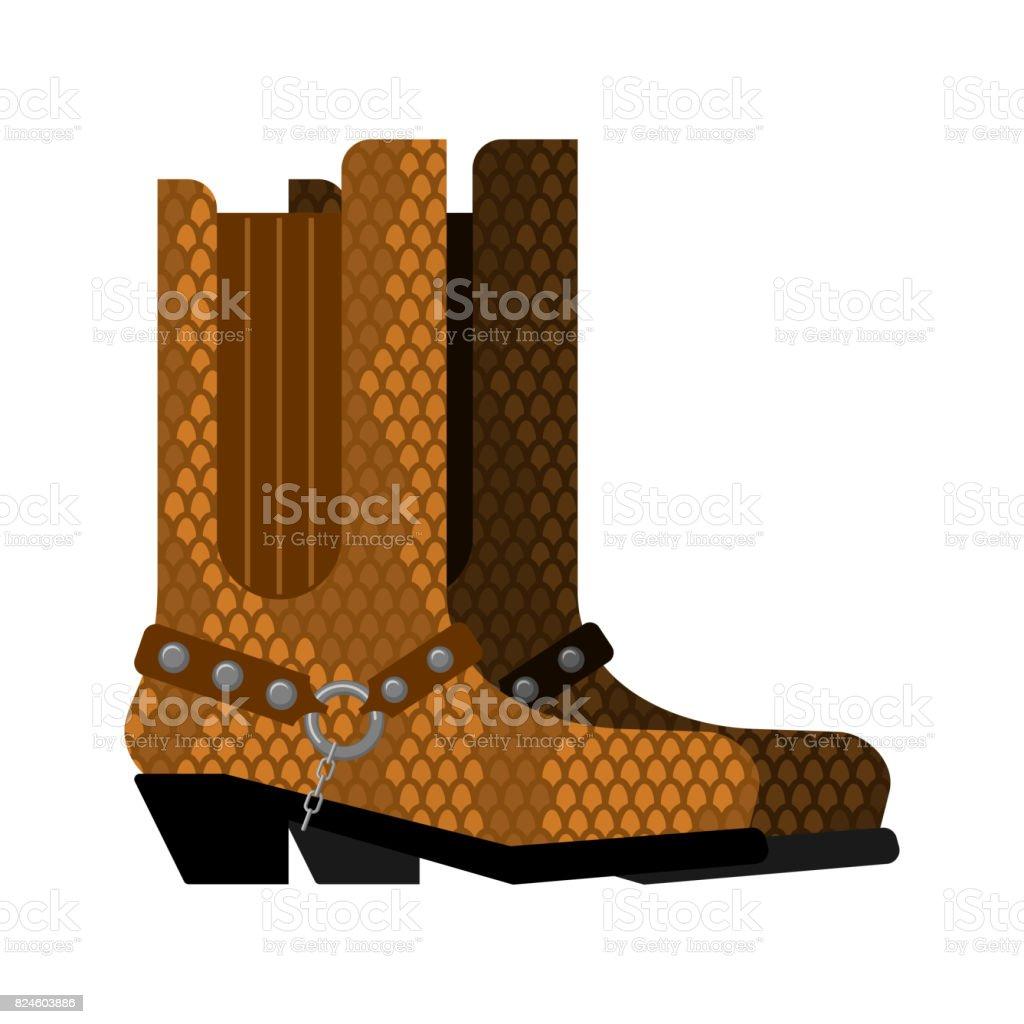 Botas Cowboy cuero de python. Piel de cocodrilo de zapatos hechos de  Australia ilustración de 7c53e77aca8