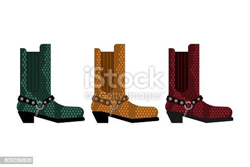 Ilustración de Conjunto De Botas De Cowboy Piel De Cocodrilo De Zapatos  Hechos De Australia y más banco de imágenes de Arte cultura y espectáculos  809286808 ... fa471bcf9d7