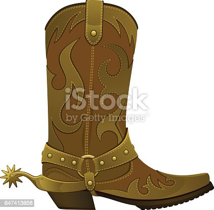 Cowboy boots on a white background