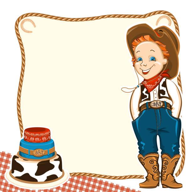 Открытка с днем рождения для ковбоя