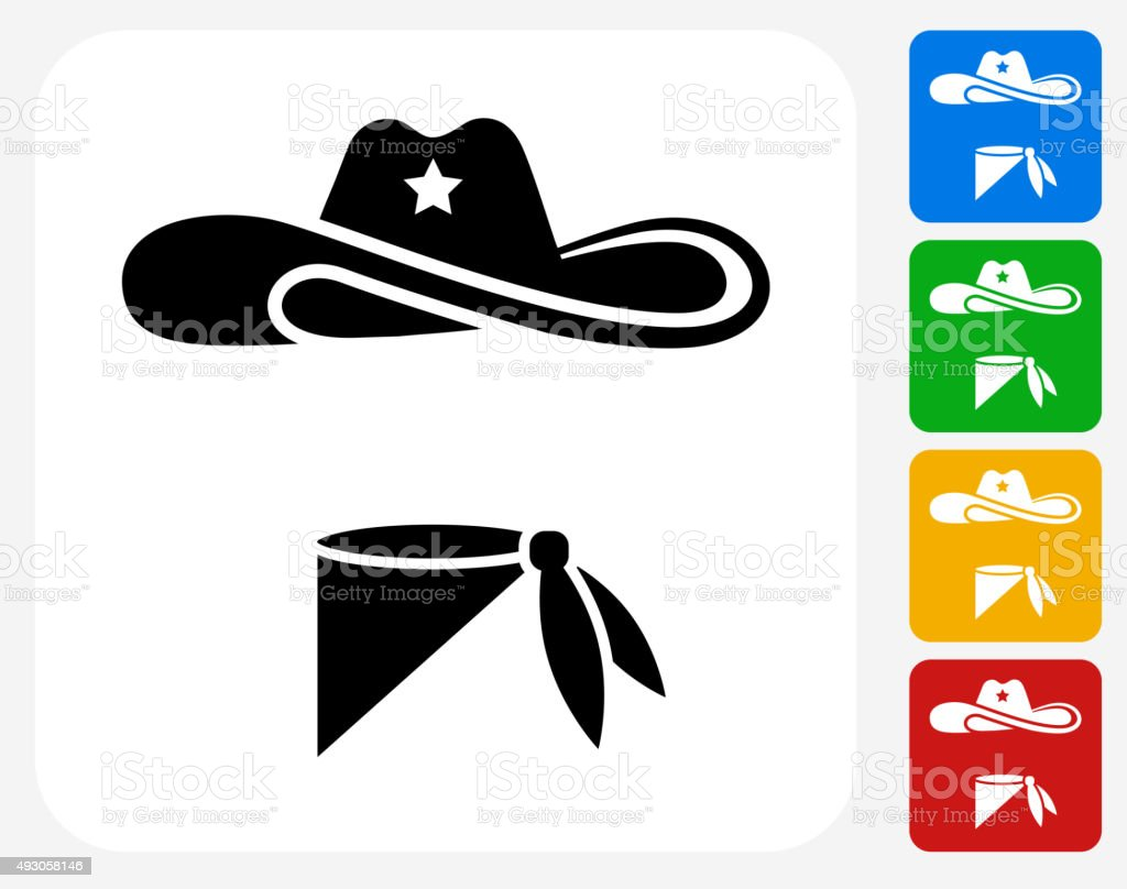 Cowboy Cloth Icon Flat Graphic Design vector art illustration