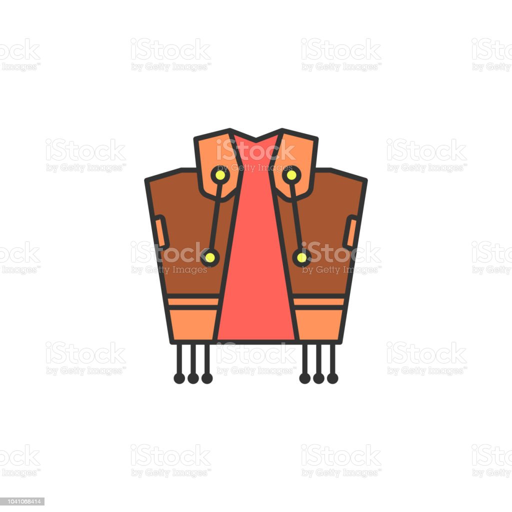 4b516764c79 Cowboy costume colored icon. Element of wild west icon for mobile concept  and web apps. Cartoon cowboy costume icon can be used for web and mobile -  ...