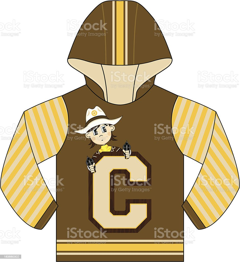 Cowboy Design Kids Hooded Top royalty-free cowboy design kids hooded top stock vector art & more images of aiming