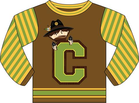 Cowboy Design Kids Hoodie