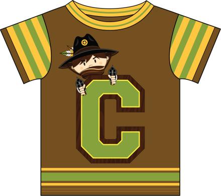 Cowboy Design Kids T-Shirt