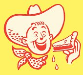 istock Cowboy Eating a Piece of Pie 185501496