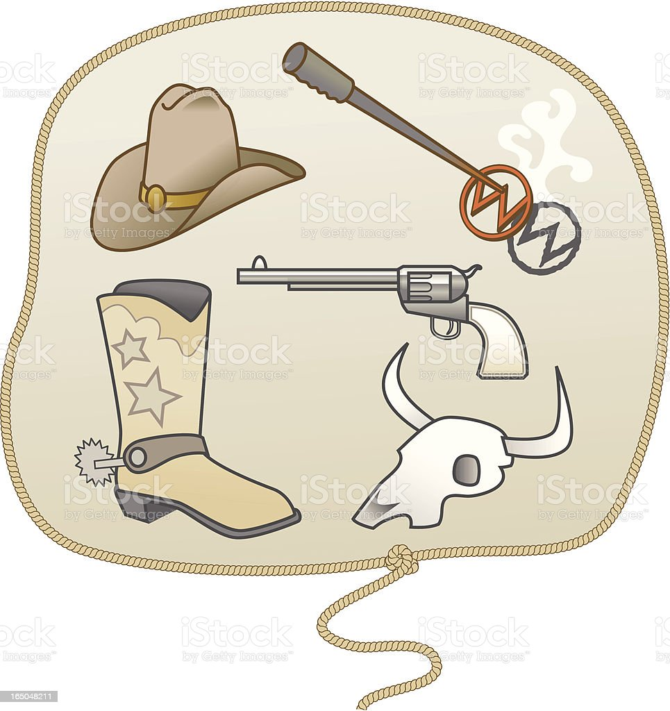 Cowboy Elements royalty-free cowboy elements stock vector art & more images of animal body part