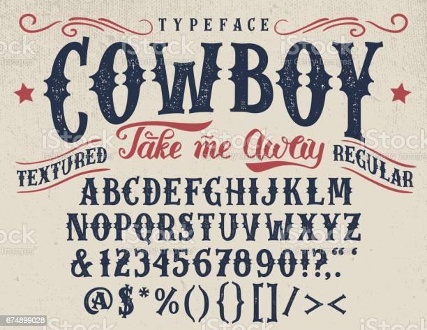 Cowboy handcrafted retro textured typeface vector id674899028?b=1&k=6&m=674899028&s=612x612&h=qfchannc7tivx3kuioogtw6o0nz5toeyo0cqca6cw q=