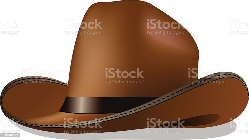 cowboy hat vector art illustration