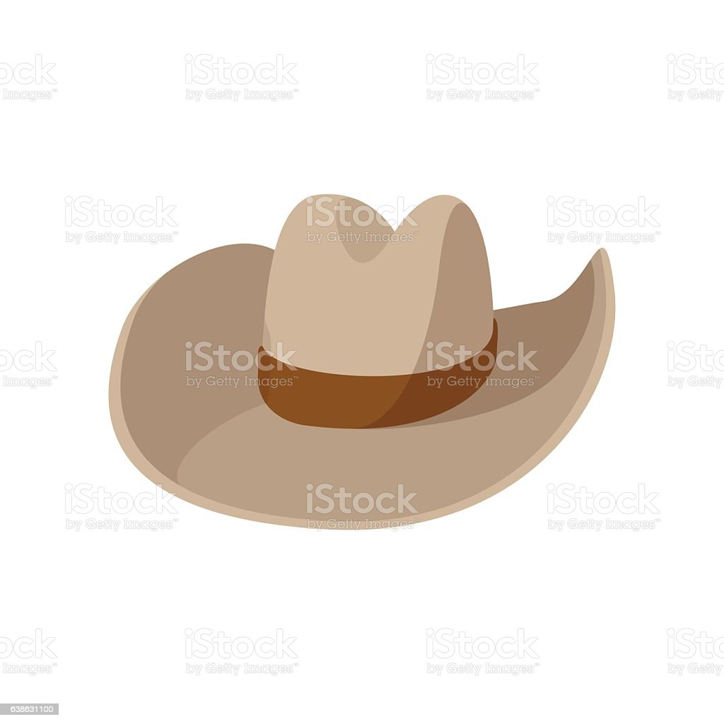Cowboy hat cartoon icon vector art illustration