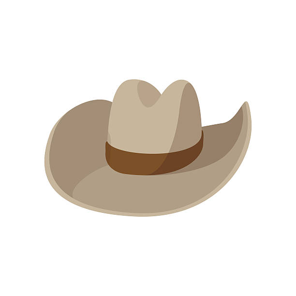 cowboy hat cartoon icon - cowboyhüte stock-grafiken, -clipart, -cartoons und -symbole