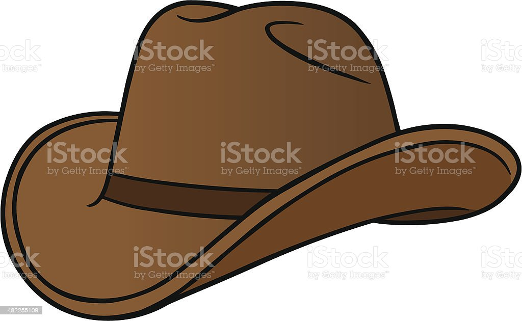 Cowboy Hat Cartoon vector art illustration