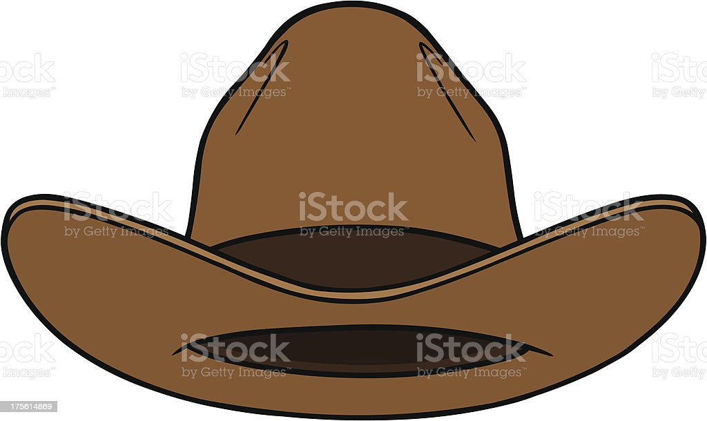 Cowboy Hat Front vector art illustration