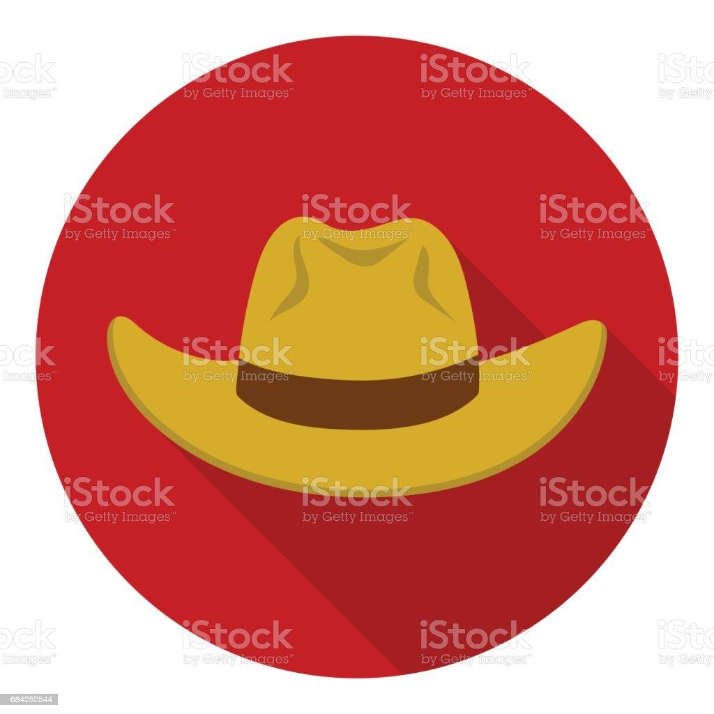 Chapeau de Cowboy icône style plat isolé sur fond blanc. Illustration de chapeaux symbole vecteur stock. chapeau de cowboy icône style plat isolé sur fond blanc illustration de chapeaux symbole vecteur stock – cliparts vectoriels et plus d'images de accessoire libre de droits