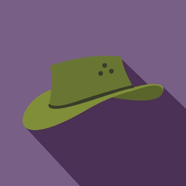 Icono del sombrero de vaquero de estilo plano - ilustración de arte  vectorial c447882e0c1
