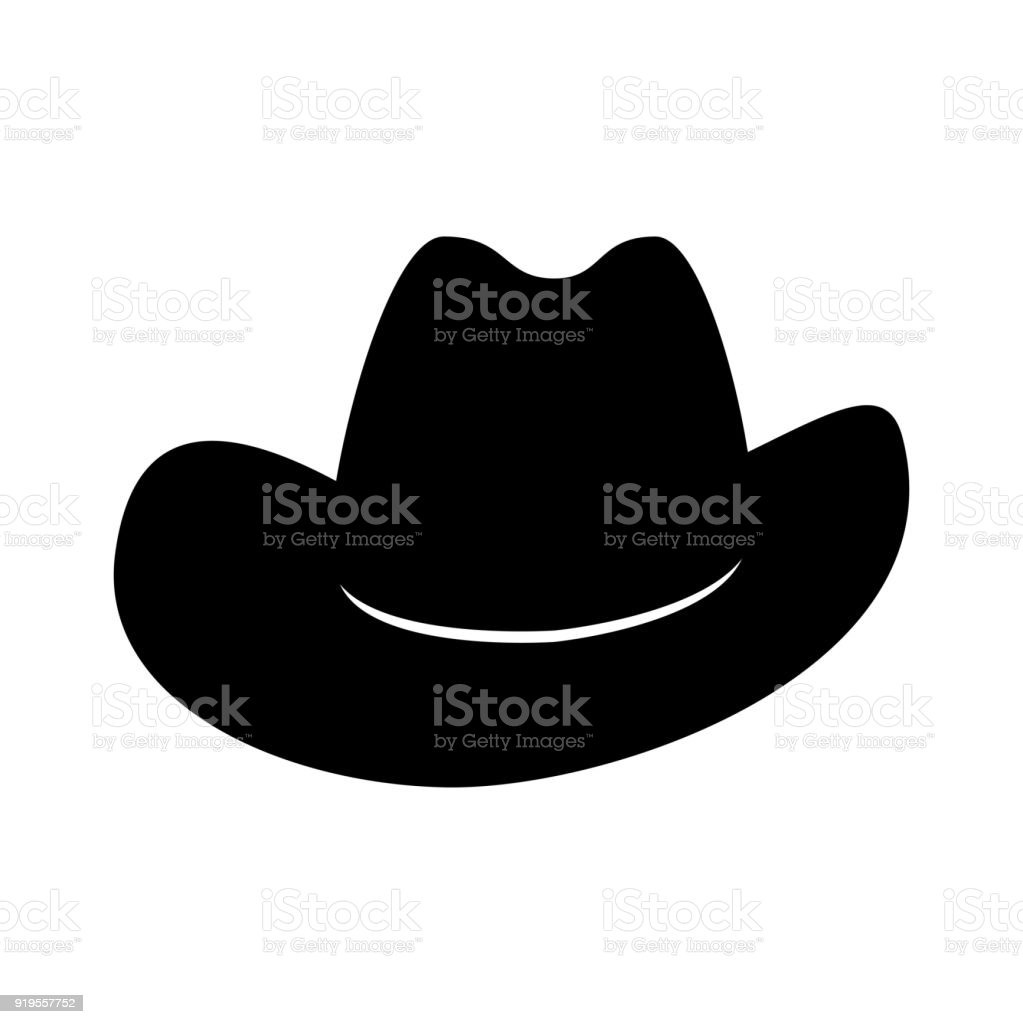Cowboy hat. Icon isolated on white background. Vector vector art illustration