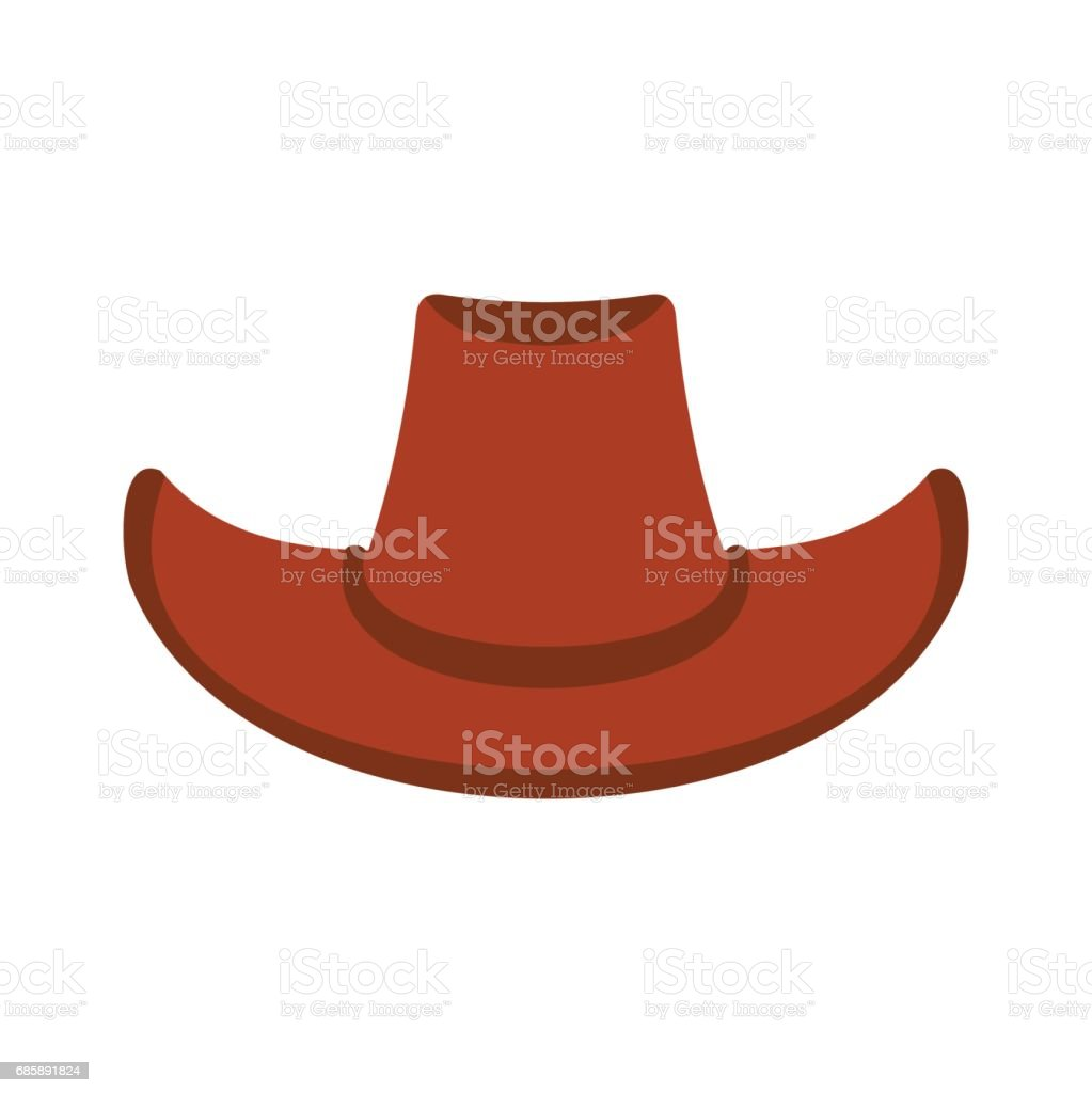 Cowboy hat icon vector art illustration