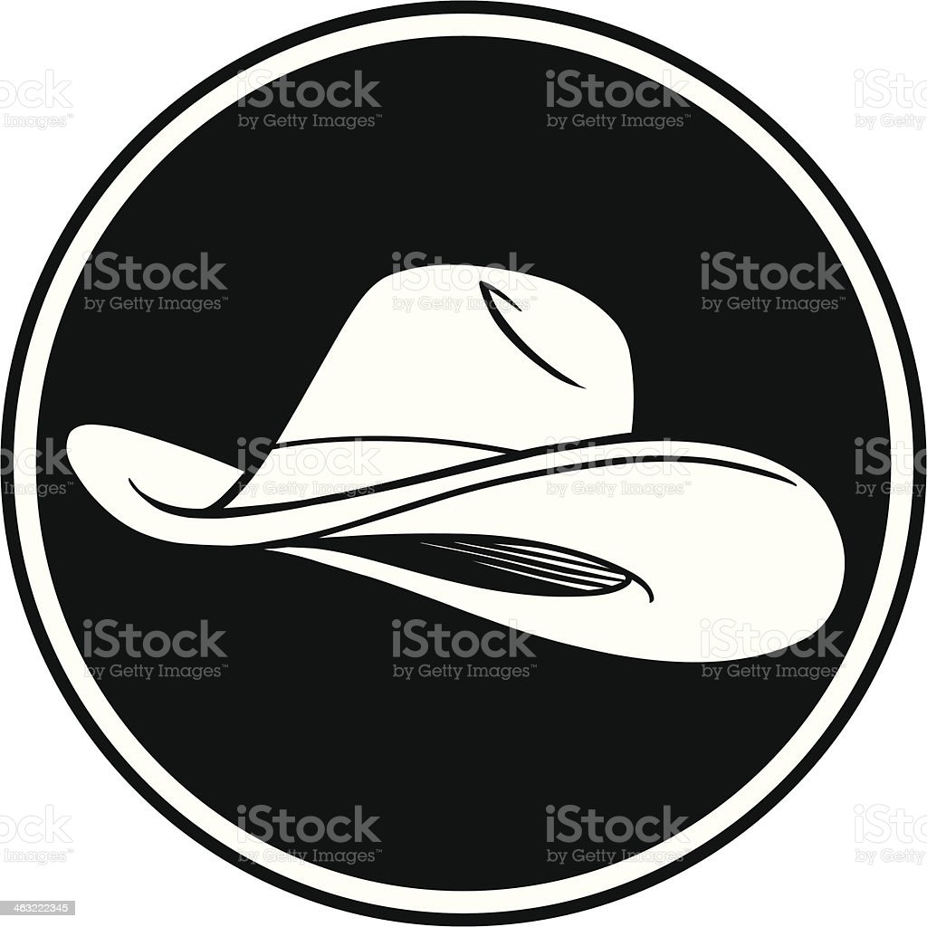 Cowboy Hat Symbol vector art illustration