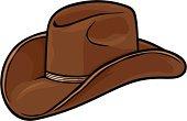 cowboy hat vector ilustration, brown cowboy hat