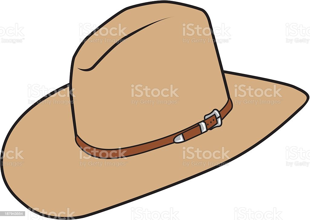 royalty free cowboy hat on white clip art vector images rh istockphoto com free clipart cowboy hat free clipart cowboy hat