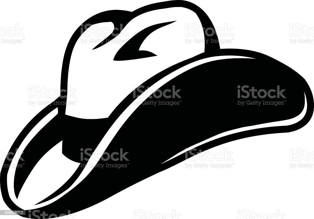 royalty free white cowboy hat clip art vector images rh istockphoto com cowboy hat vector free download cowboy hat vector silhouette