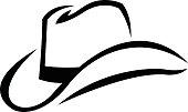 A vector illustration of a cowboy hat