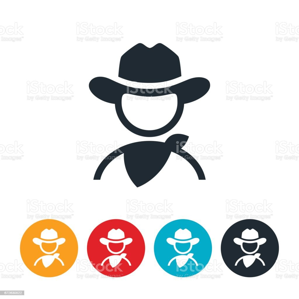 Cowboy Icon vector art illustration