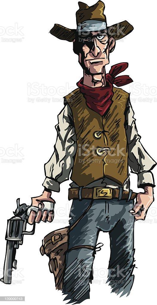 Cowboy illustration royalty-free stock vector art