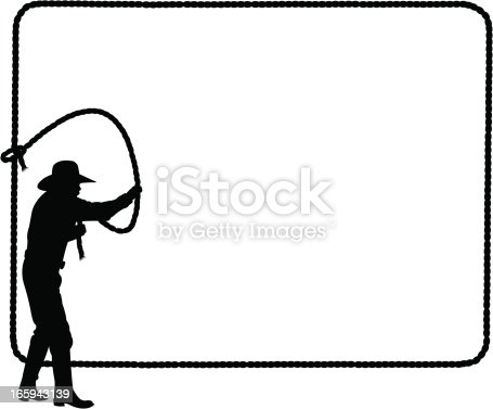 cowboy lasso frame background roping stock vector art