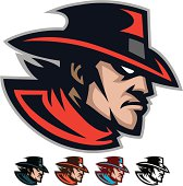 This Cowboy mascot is great for any school or sport based design.