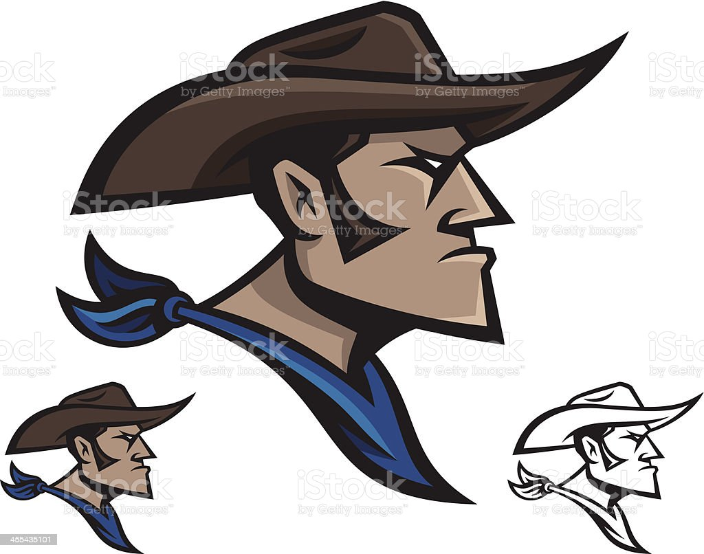 Cowboy Mascot vector art illustration