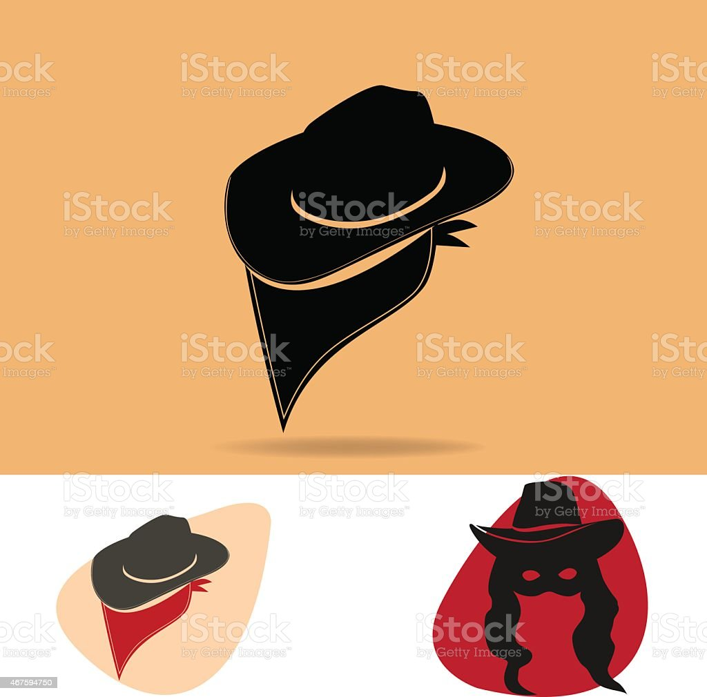 Cowboy outlaw vector art illustration