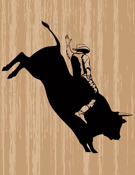 Best Bull Riding Illustrations, Royalty-Free Vector ...