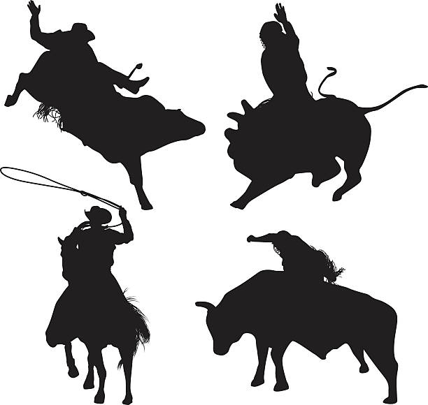 Royalty Free Bull Riding Clip Art, Vector Images ...