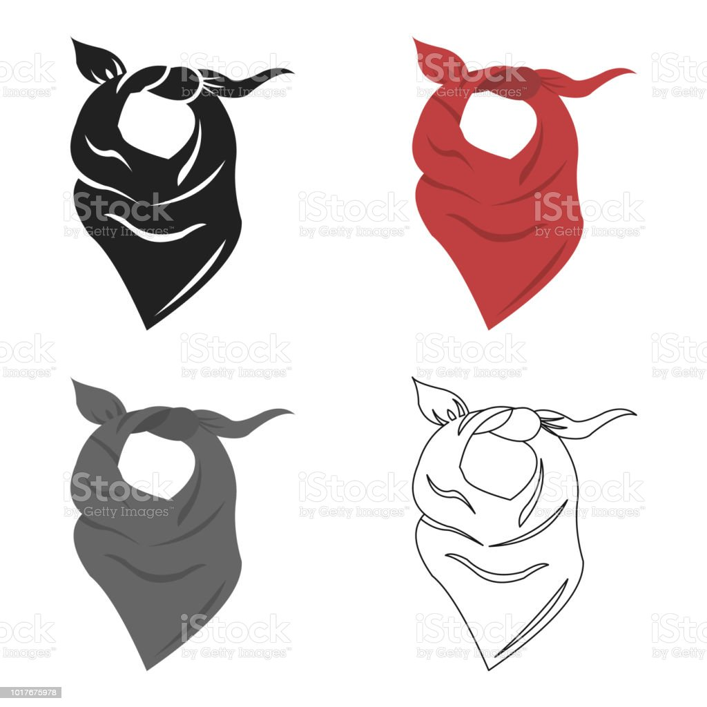 Cowboy scarf icon cartoon. Singe western icon from the wild west cartoon web vector art illustration