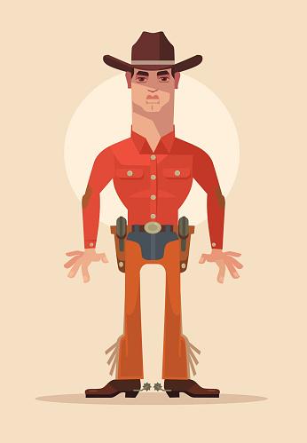 Cowboy sheriff character