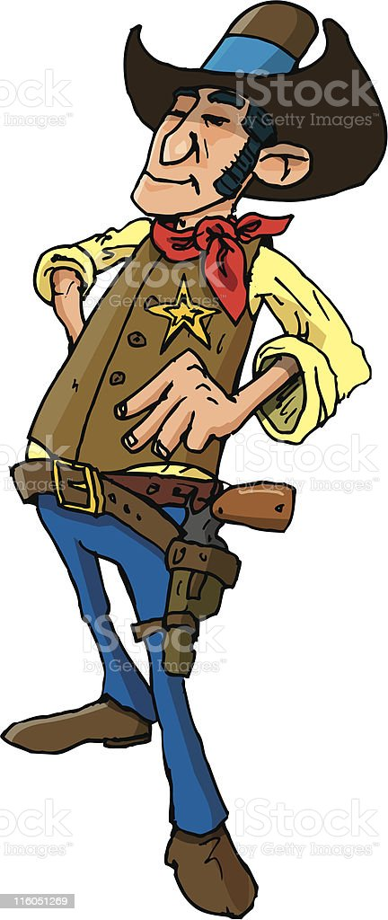 Cowboy sherrif royalty-free cowboy sherrif stock vector art & more images of adult