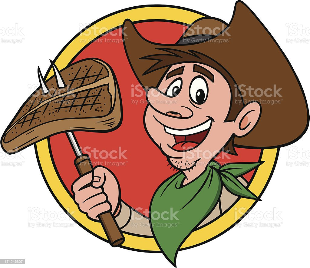 Cowboy Steak royalty-free stock vector art