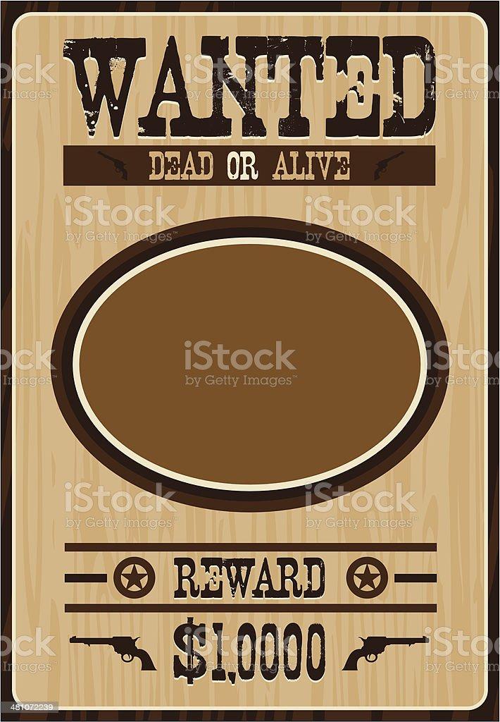 Cowboy Wanted Poster vector art illustration