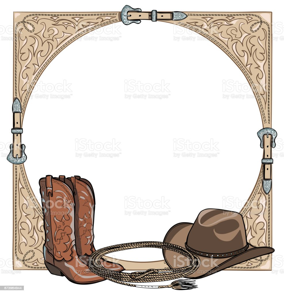 Cowboy Western Horse Equine Riding Tack Tool In The Western Leather ...
