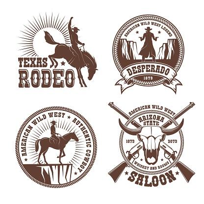 Cowboy wild west rodeo vintage badge